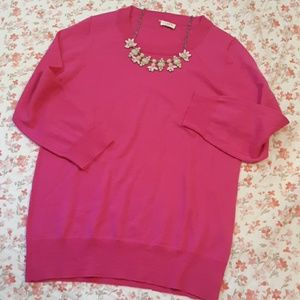 Beautiful Pink J.Crew crewneck sweater
